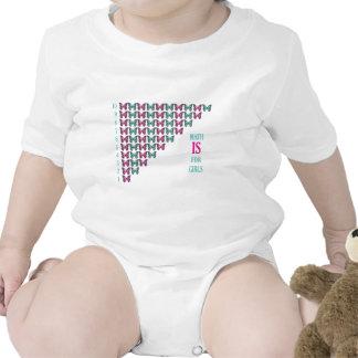 La matemáticas está para los chicas, yo ama la mat trajes de bebé