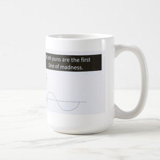 La matemáticas hace juegos de palabras seno de la  taza