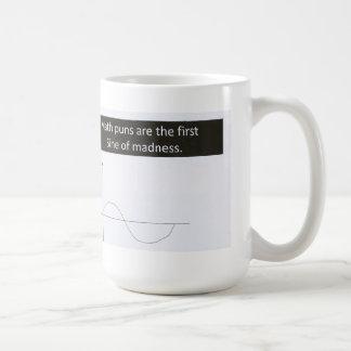 La matemáticas hace juegos de palabras seno de la taza de café