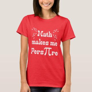 La matemáticas hace que transpira las camisetas -