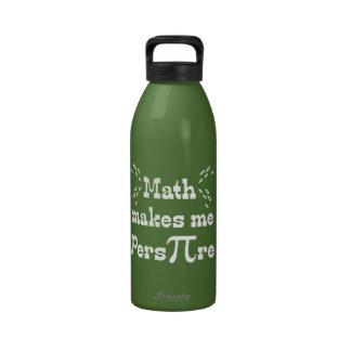 La matemáticas hace que transpira - lema divertido botellas de agua reutilizables