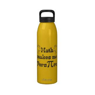 La matemáticas hace que transpira - lema divertido botellas de beber