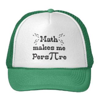 La matemáticas hace que transpira - lema divertido gorro de camionero