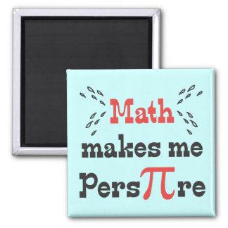 La matemáticas hace que transpira - lema divertido iman de frigorífico