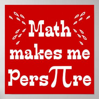 La matemáticas hace que transpira - lema divertido