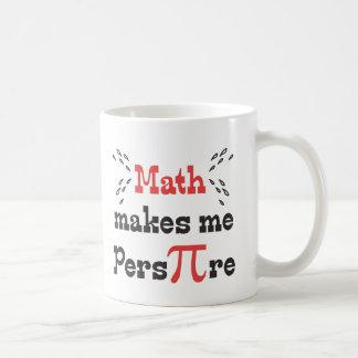 La matemáticas hace que transpira - los regalos taza de café