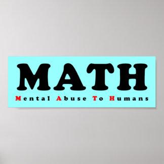 La MATEMÁTICAS iguala abuso mental al poster diver