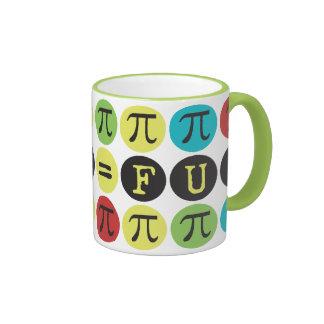 La matemáticas iguala la diversión - MOD colorida  Taza De Café