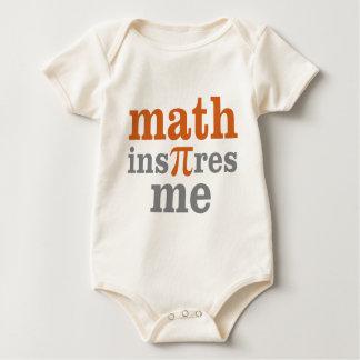 La matemáticas me inspira body de bebé
