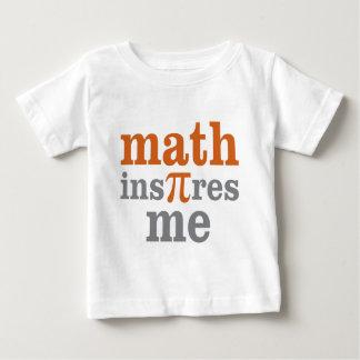 La matemáticas me inspira camisas