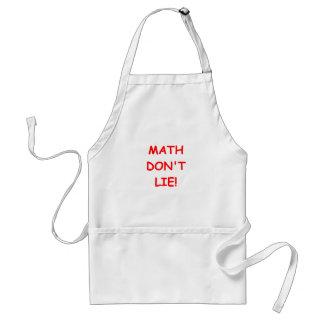 la matemáticas no miente delantales