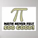 La matemáticas nunca sentía tan buena impresiones