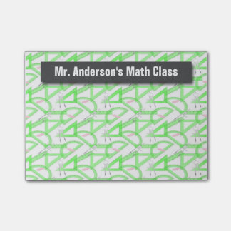 La matemáticas personalizada de los profesores notas post-it