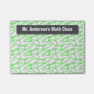La matemáticas personalizada de los profesores notas post-it®