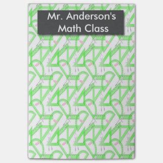 La matemáticas personalizada de los profesores post-it® nota