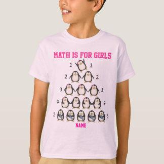 La matemáticas personalizada está para los chicas, camisas