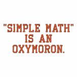 La matemáticas simple es un Oxymoron Camiseta Polo Bordada