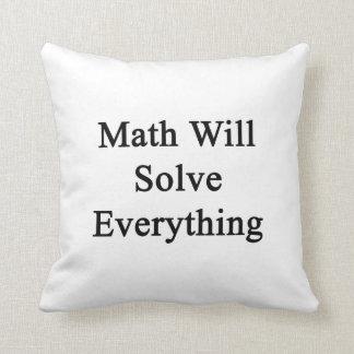 La matemáticas solucionará todo cojines