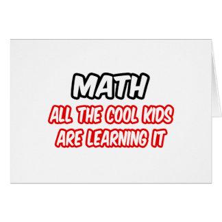 La matemáticas… todos los niños frescos lo está ap tarjeta de felicitación