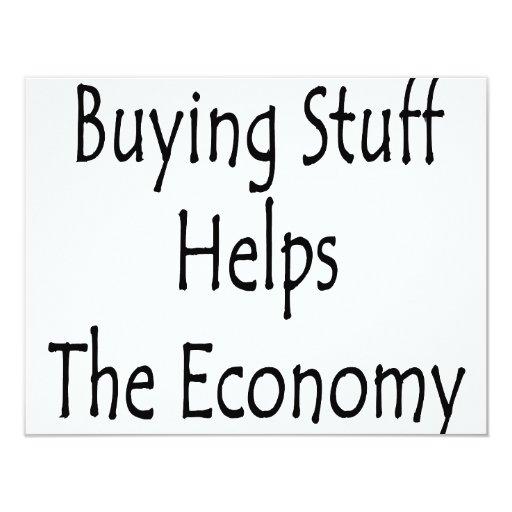 La materia de compra ayuda a la economía anuncios