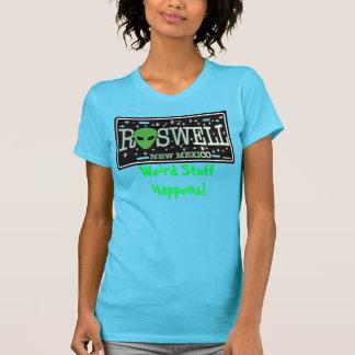 La materia extraña de la placa extranjera de Roswe Camisetas