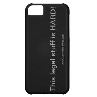 ¡La materia legal es DURA! cubierta del iPhone 5 ( Funda Para iPhone 5C