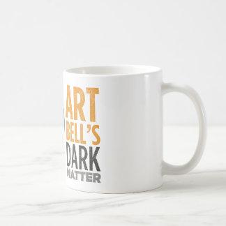La materia oscura de Bell del arte (cabeza Taza Básica Blanca