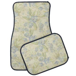 La materia textil floral del vintage acogedor me alfombrilla de auto