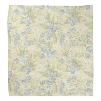 La materia textil floral del vintage acogedor me bandana