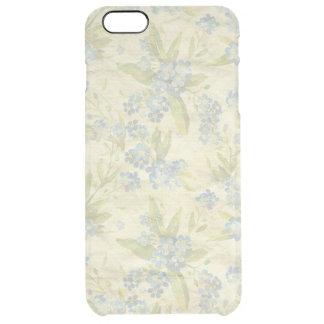 La materia textil floral del vintage acogedor me funda clearly™ deflector para iPhone 6 plus de unc