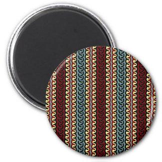 La materia textil indonesia colorea el imán