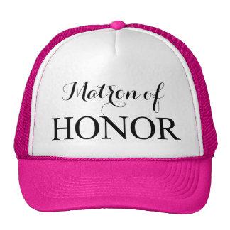 La matrona del honor gorras