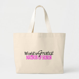 La matrona más grande de los mundos del honor bolsa tela grande