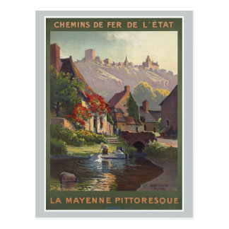 La Mayenne Pittoresque France Railways Vintage Postcard