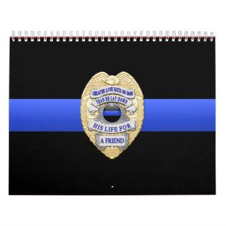 La mayor insignia del amor enrarece Blue Line Calendario