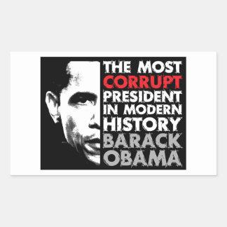 La mayoría corrompen al presidente pegatina rectangular