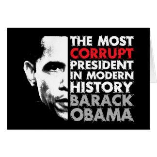 La mayoría corrompen al presidente tarjeta de felicitación