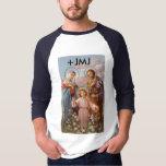 La mayoría de la camiseta santa de la familia playera