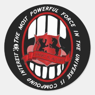 la mayoría de la fuerza potente en el universo pegatina redonda