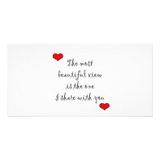 La mayoría de la hermosa vista tarjeta fotografica personalizada