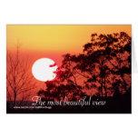La mayoría de la hermosa vista, tarjeta del el día