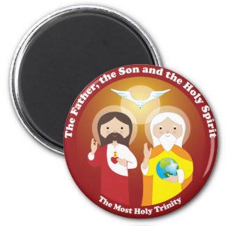 La mayoría de la trinidad santa imán redondo 5 cm