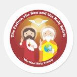 La mayoría de la trinidad santa pegatina