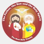 La mayoría de la trinidad santa pegatina redonda