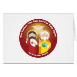 La mayoría de la trinidad santa tarjeta