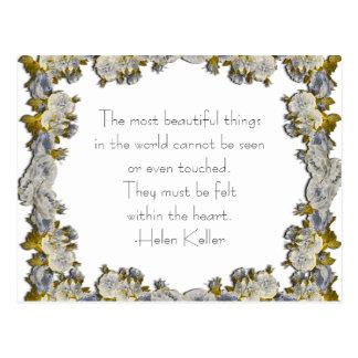 La mayoría de las cosas hermosas - postal