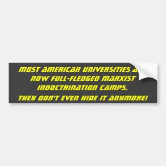 La mayoría de las universidades americanas son hec pegatina para auto