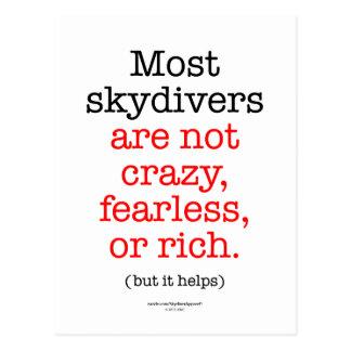 La mayoría de los Skydivers Postal