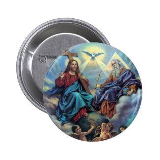 La mayoría del botón de la trinidad santa pin