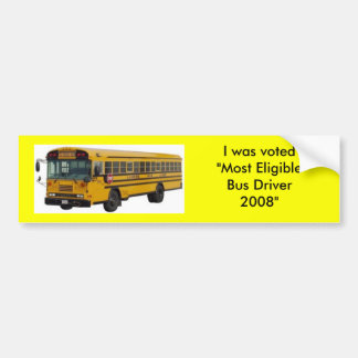 La mayoría del conductor del autobús elegible pegatina para auto